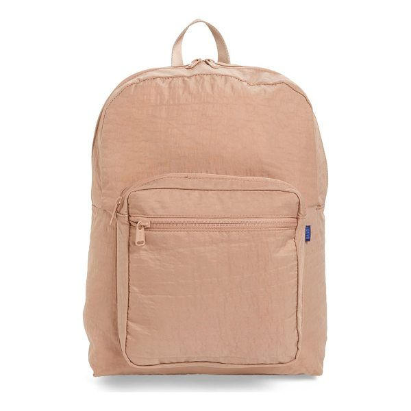 "Perfect for overnight getaways or commuting to work or school, this lightweight backpack accommodates most 15"" laptops and conveniently folds flat..."