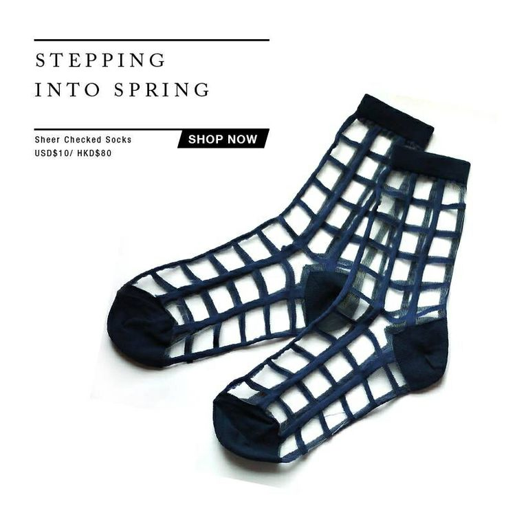They're BACK! • Dark Blue Sheer Checker Socks  Shop now: www.thelayers.org