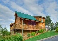 2 bedrooms, 2 bathrooms, sleeps 7 Situated in the Alpine Mountain Village Resort, this gorgeous Pigeon Forge log cabin is located just a short distance from all the shopping and entertainment of both Pigeon Forge and Gatlinburg.This beautiful two story log cabin has a fully equipped kitchen and a dining table to seat six. #fun #cabin #mountain #view