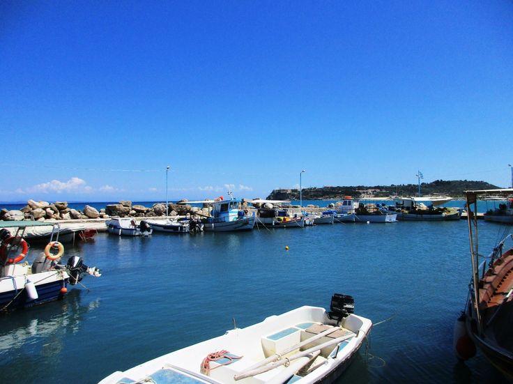 Kotvící loďky - Tsilivi - ostrov Zakynthos - Řecko