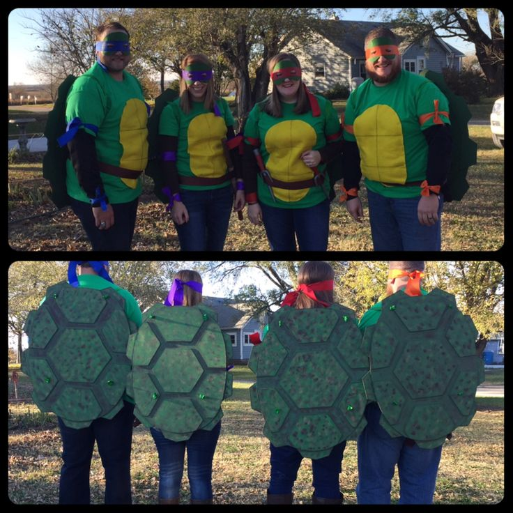 Ninja turtle costume. DIY Ninja Turtle costumes. TMNT. Homemade turtle costumes.