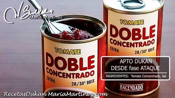 Tomate Concentrado apto Dukan, ideal para Pizza (en Mercadona)
