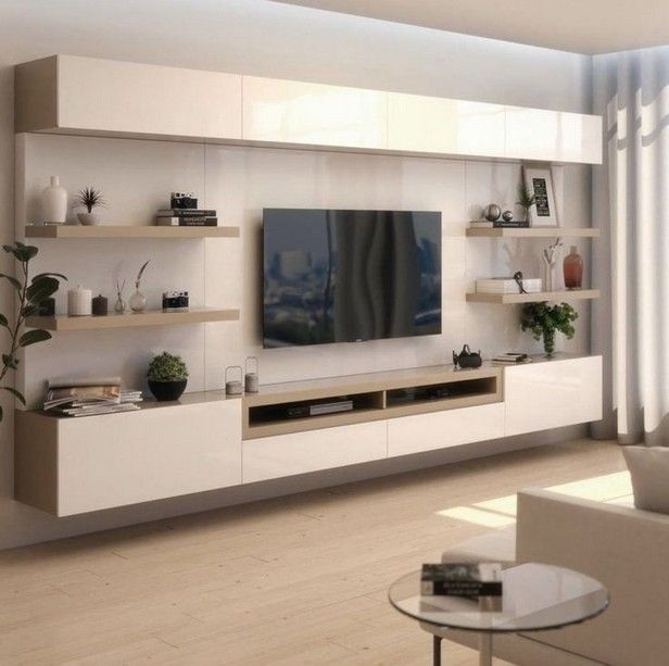 55 Perfect Textured Walls Are Your Interior Design Ideas For Your Living Room 26 Living Room Wall Units Living Room Tv Unit Designs Living Room Tv Unit #textured #wall #in #living #room