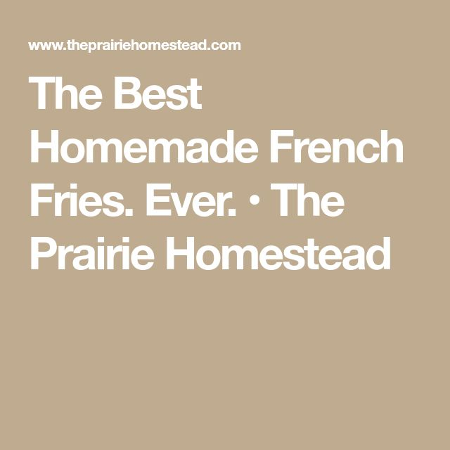 The Best Homemade French Fries. Ever. • The Prairie Homestead