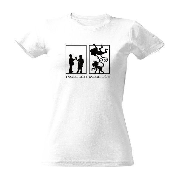 c10c96d26f Tričko s potiskem Miluju své opičí děti - vtipný dárek pro všechny rodiče!   děti