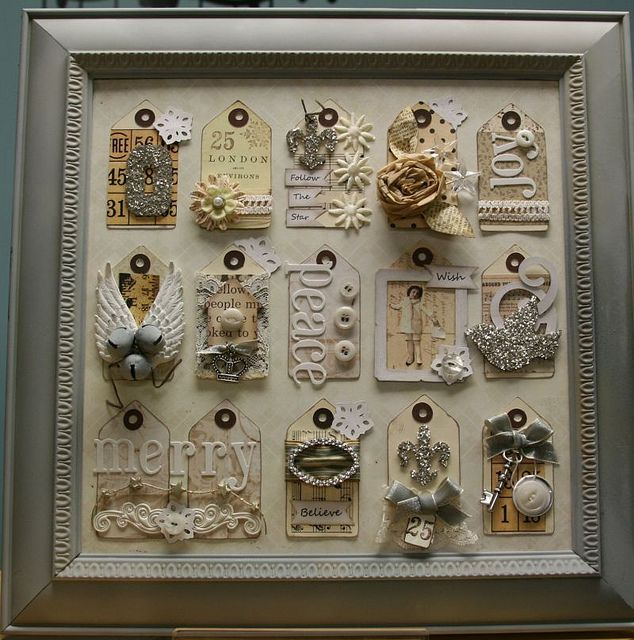 Shabby Chic Christmas Tag Collage   Flickr - Photo Sharing!