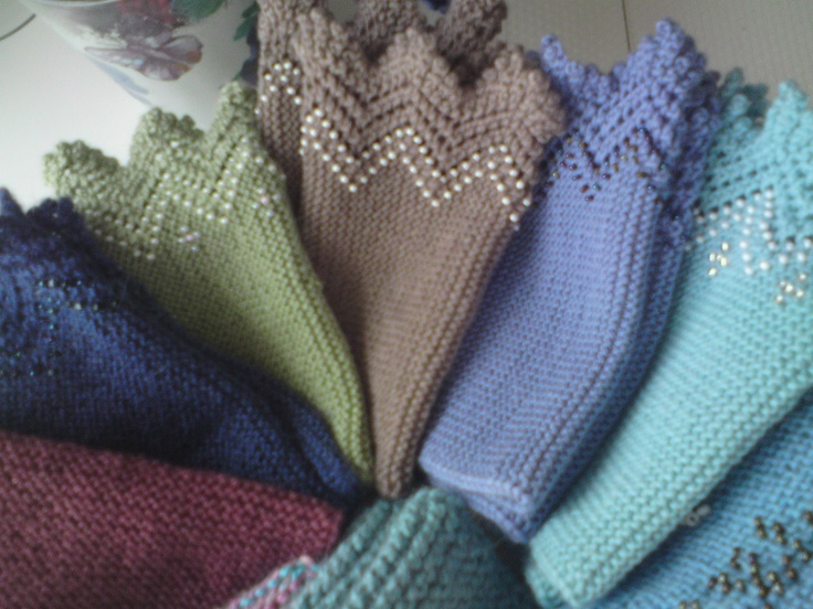 Many, many pairs of the Victorian wristwarmers knitted 2011