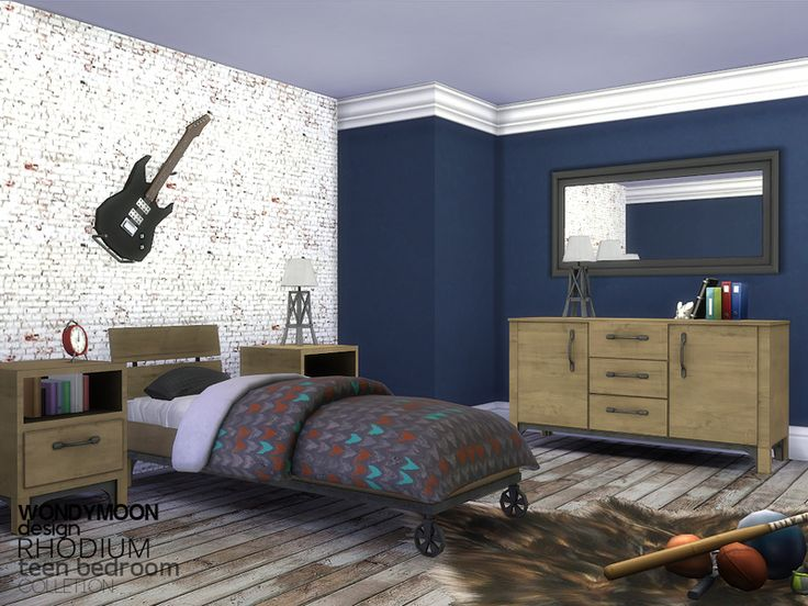 Rhodium Teen Bedroom Found In TSR Category U0027Sims 4 Kids Bedroom Setsu0027