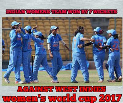 BLUECRICKETIN.COM: Indian women's cricket team won by 7 Wickets again...