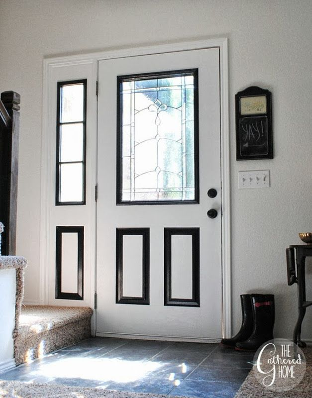 Pretty White Front Door