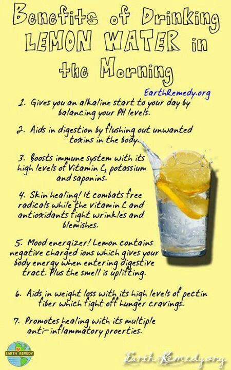 Lemon water :) I drink it hot with  3 drops of my doterra lemon essential oil!