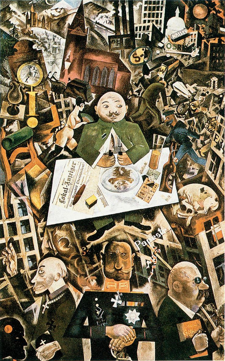 Urban: George Grosz: Germany, a winters tale (Deutschland, ein Wintermärchen), 1918. Oil on canvas.