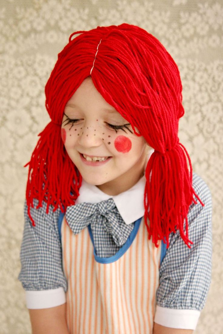 If I can make this wig onto a baby beanie, Harper might have a Halloween custume.... we'll see.