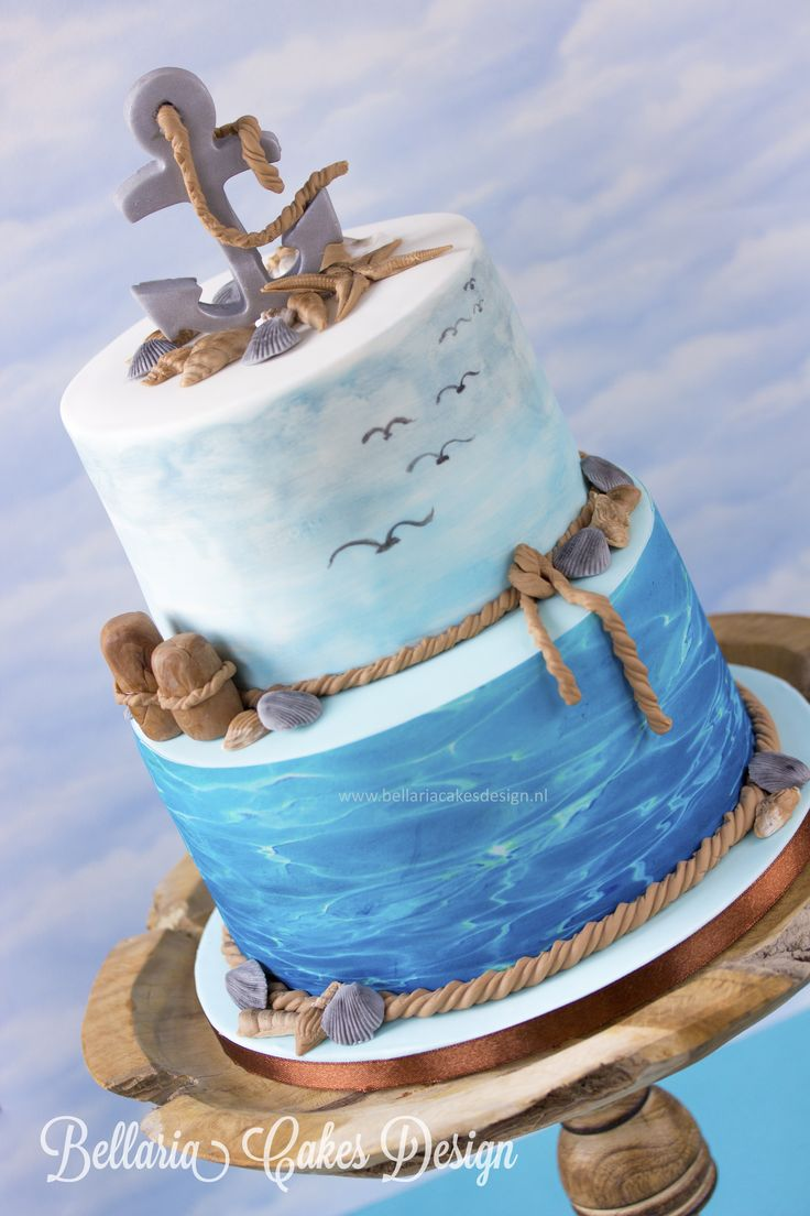 """""""To Where You Are"""" - Not every cake needs a cheerful event. This cake was created to honor a wonderful man who recently passed away. I was touched by the family's request and I'm grateful that I've been offered the opportunity to make this cake. The sea along with the beach and the sea gulls was the requested theme. There was this sentence on the mourning card """"Flown away but still in our heart"""", that made me think of a song of Josh Groban """" To Where You are"""" . This song seems to give a lot…"""