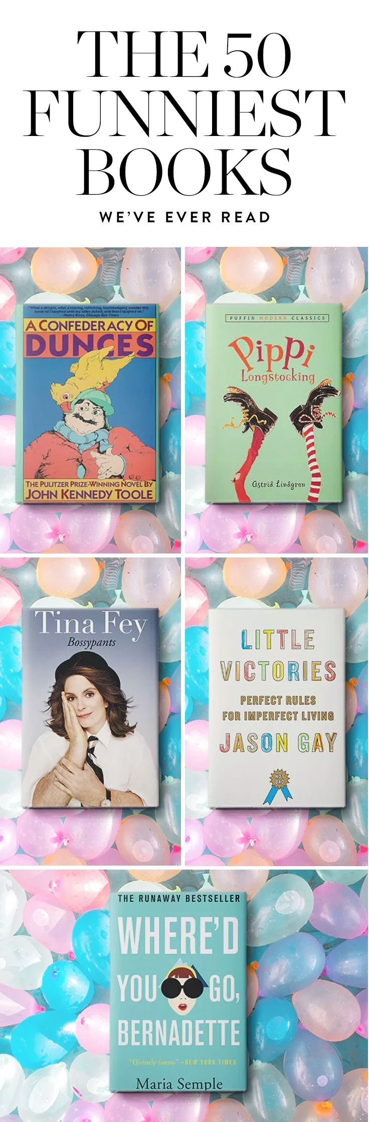 Here are the funniest books that are guaranteed to crack you up.