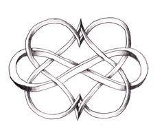Double coeur et le symbole de l'infinie