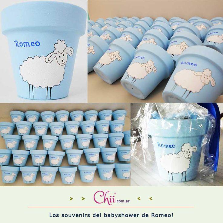 Compartimos los souvenirs del babyshower de Romeo! Fue temático con ovejitas! :)   www.chii.com.ar