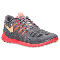 2015 Cheap Nike Free 5.0 Womens 2015 Cool Grey/Atomic Mango/Laser Crimson Running Shoes OnlineProvid