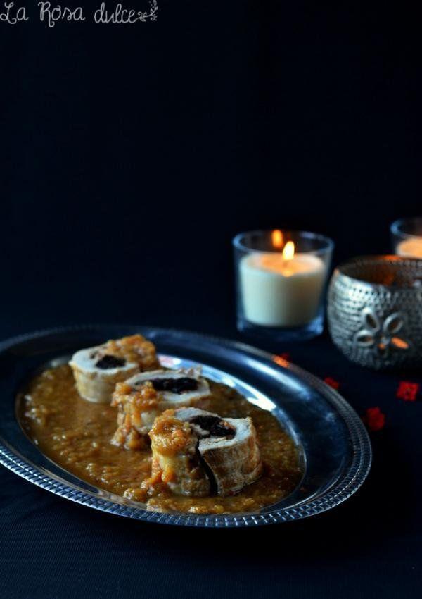 Solomillo Relleno Al Horno Con Salsa De Manzana Cocina