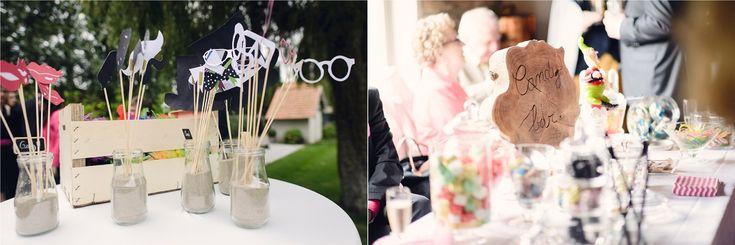 Vrai mariage / Mariage ambiance nature / photobooth / candy bar / photo: Julien Briche