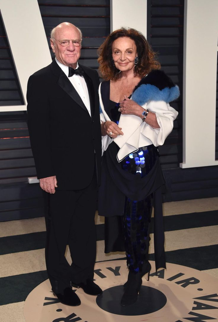 Barry Diller and Diane von Furstenberg arrive at the Vanity Fair Oscar Party on Sunday, Feb. 26, 2017, in Beverly Hills, Calif.