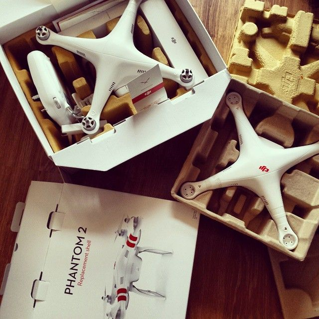 #dji #phantom2vision ready to #fly with a new shell :)