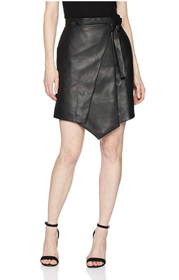 9b6767314 BCBGMAXAZRIA Women's Yulissa Faux-Leather Wrap Skirt, Black | Heels and Skirts  Tight Dresses | Pinterest | Faux leather skirt, Skirts and Leather