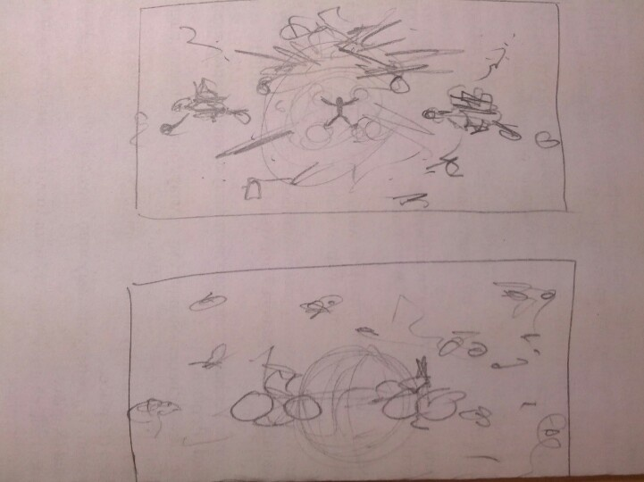Back cover art sketches.