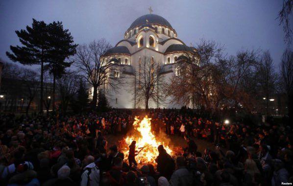 SERBIANS CELEBRATE XMAS FOR THREE DAYS