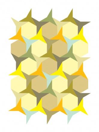 Concave Hexagons (Art Print, 2009) // Gary Andrew Clarke