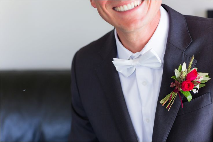 Grooms buttonhole detail by @MagdalenHill. Hawkes Bay Wedding at Te Awa Winery.