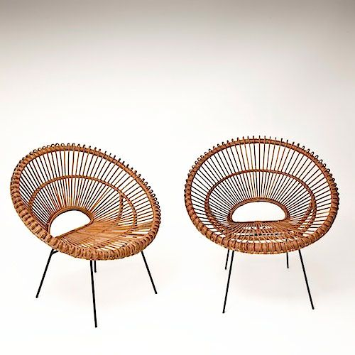 rattan hoop chairs in the manner of janine abraham http. Black Bedroom Furniture Sets. Home Design Ideas