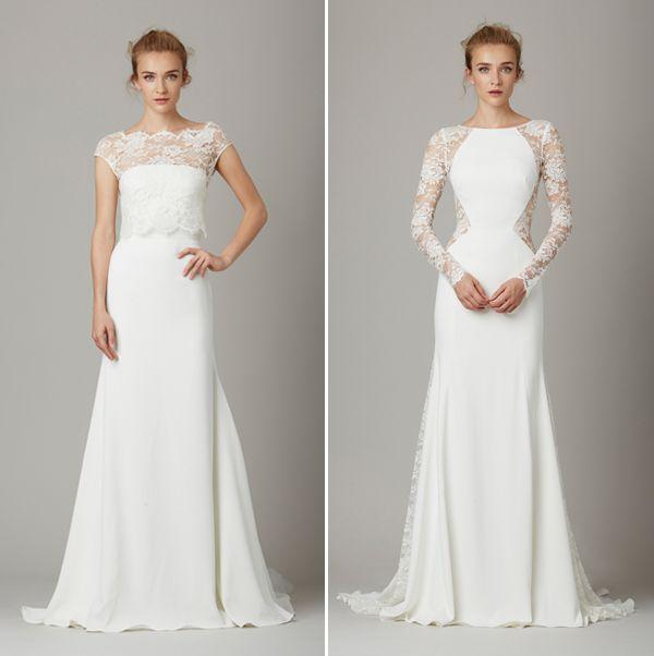 Vestido de noiva clean liso minimalista - Lela Rose - NY Bridal Week Fall 2016