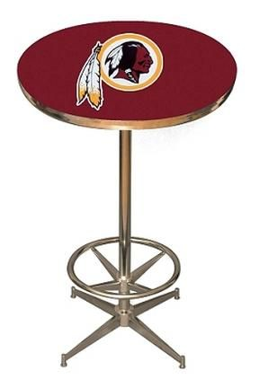 "Washington Redskins NFL Licensed Pub Table from Imperial International: ""100% American madeDisco style steel base with leg… #onlinesports"