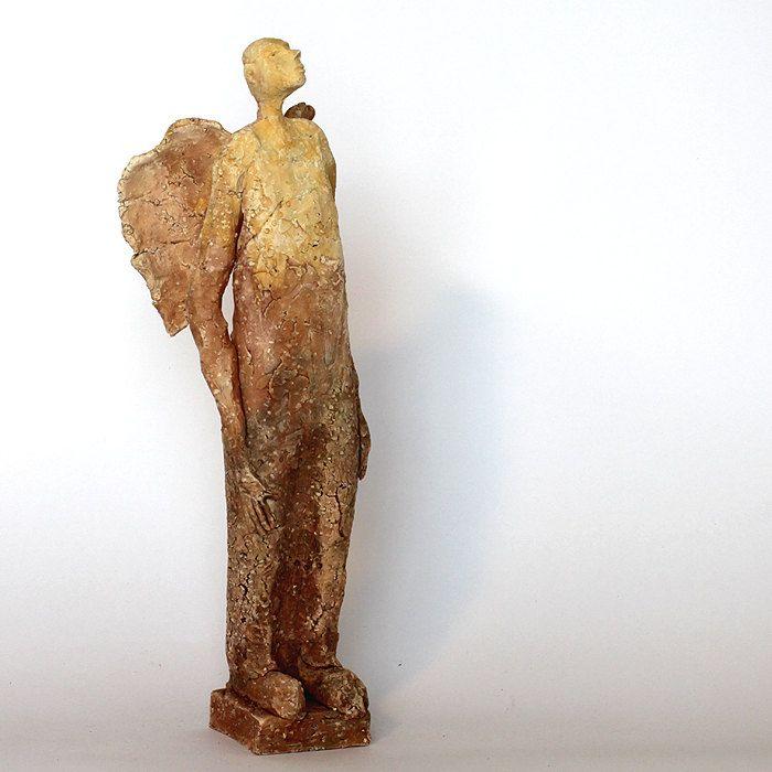 The Sand/Ceramic Sculpture /Unique Ceramic Figurine /Ceramic Angel by arekszwed on Etsy