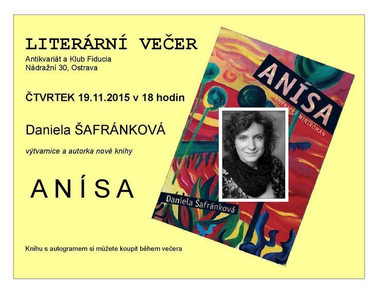 Literární večer v antikvariátu a klubu Fiducia v Ostravě