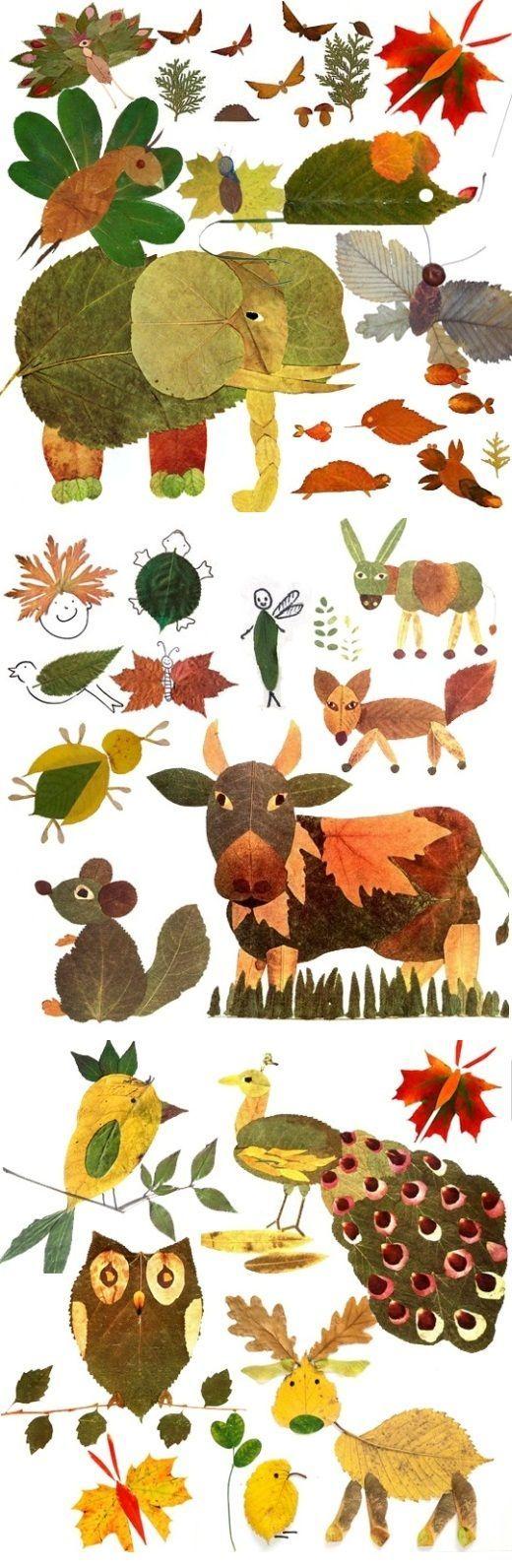 Что можно сделать из осенних листьев: