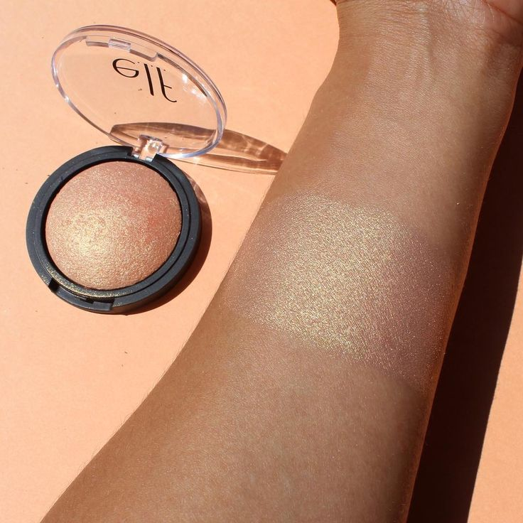 Elf Cosmetics new Baked Highlighter in Apricot Glow