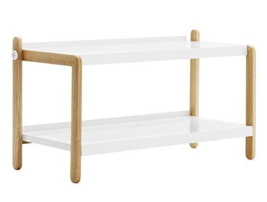 powder coated steel and wood Sko Shoe Rack, $265 from Normann Copenhagen | Top Ten: The Best Shoe Storage Options — Apartment Therapy's Annual Guide 2014