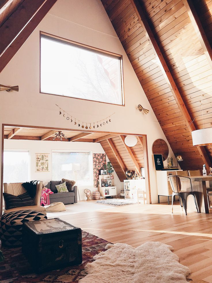 A Frame Home Interiors houzz tv showing her creative side in a classic los angeles a frame A Positively Perfect A Frame Home In Oregon