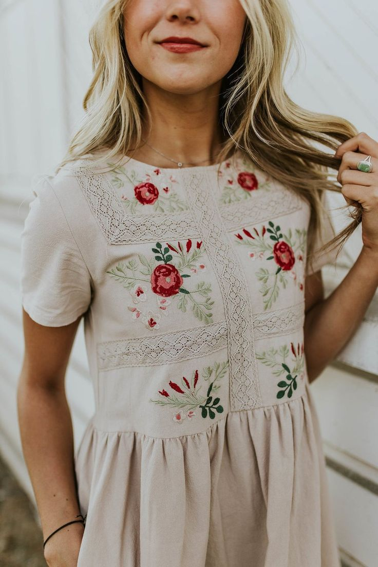 Madaline Jean Embroidered Dress