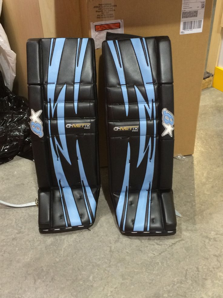 Custom Brian's goalie pads made for a customer.