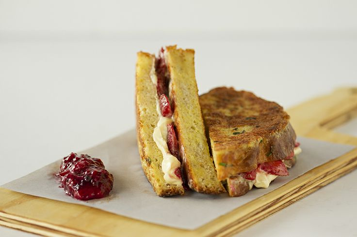 French Toast sandwich with Strawberry & Masc CRAFT Restaurant Parkhurst