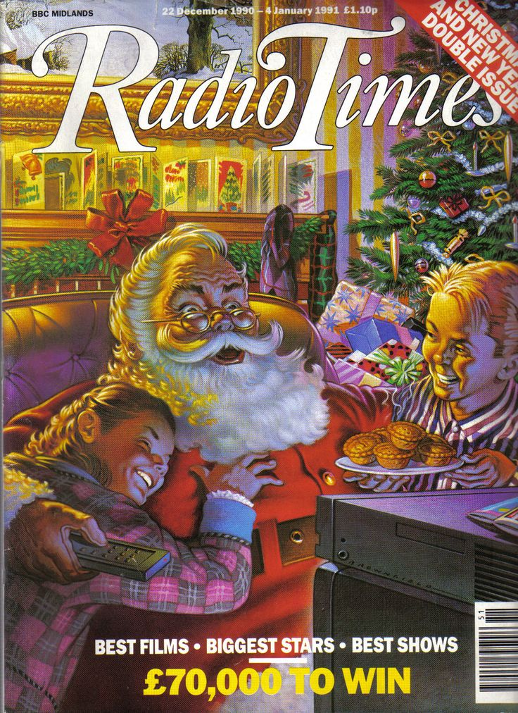 Door #19 - The 1990s started as it meant to go on, with a painted cover and Santa front and centre!