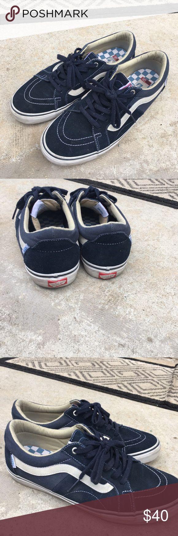 Vans Sk8 low 11.5 pre owned asking $40.00 Blue Vans SK8 lows blue pre owned and asking $40.00 Vans Shoes Athletic Shoes