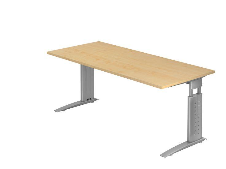 #SWDirekt: Manuell Höhenverstellbarer Schreibtisch, Arbeitstisch 120x80 Cm  Mit Horizontaler Kabelwanne U2022 Ergonomie Am