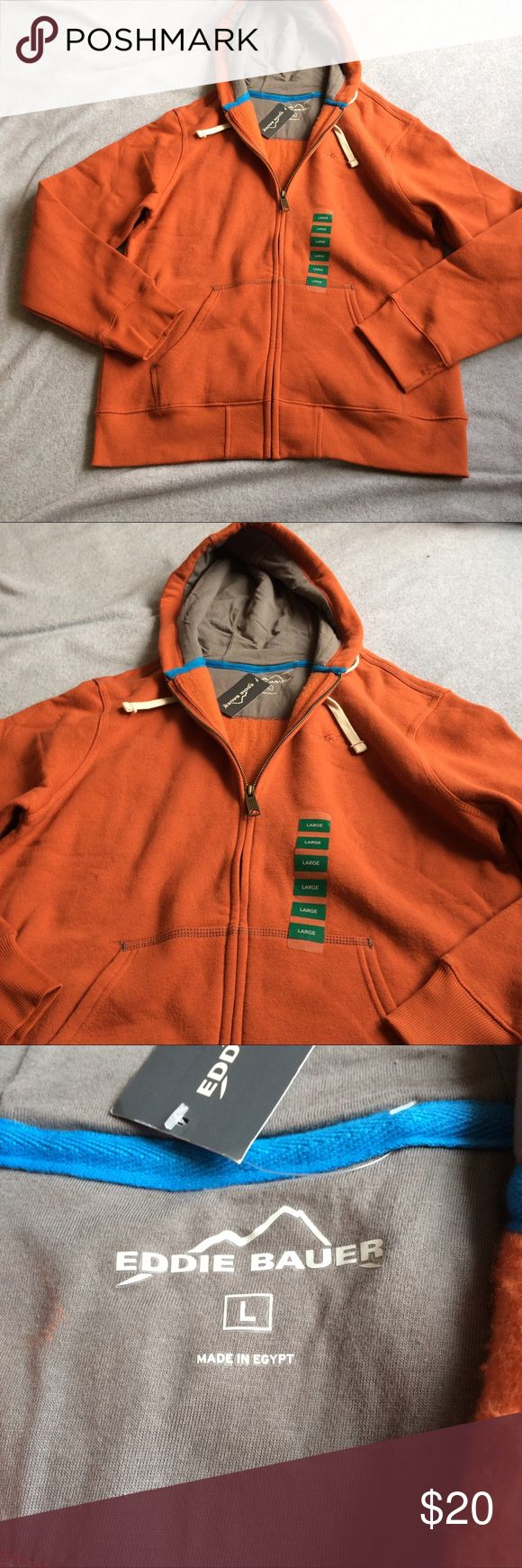Eddie Bauer orange zip up hoodie Item is in great condition stored in smoke free home. No rips, tears, holes, snags, or stains. Eddie Bauer Sweaters Zip Up