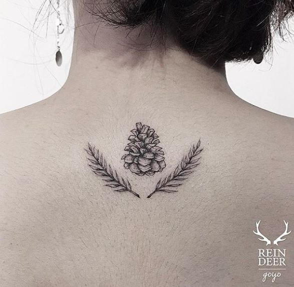 Pine and boughs tattoo