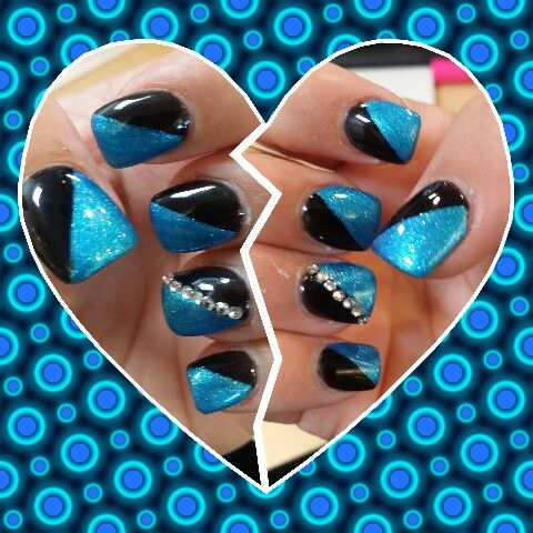 Nails for the first Carolina Panthers home game of the season!! :)