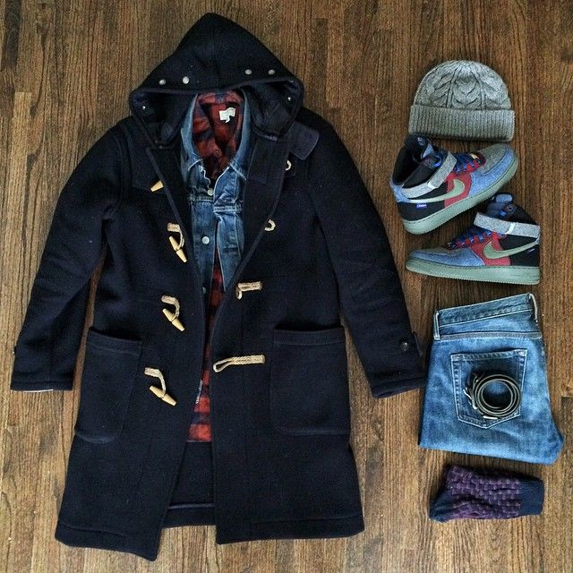 Forgot I took this earlier. Looking at it now its kinda off which is probably why I forgot it. Gap skully. Rugby coat. Levis denim jacket. #FLATLAY #FLATLAYAPP #FLATLAYS www.theflatlay.com
